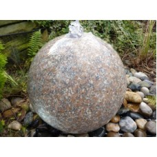 PINK POLISHED GRANITE SPHERE 40CMS DIA