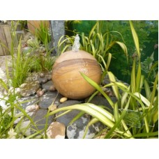 Rainbow Sandstone Sphere Drilled Water Feature 40/50/60cms Dia
