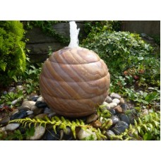 RIBBED SANDSTONE SPHERE WATER FEATURE