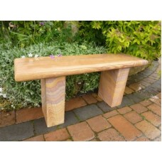 Simple Straight Rainbow Sandstone Bench