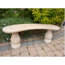 SMOOTH CURVED IONIC RAINBOW SANDSTONE BENCH