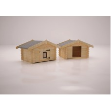 The Dog & Cat Cabins 28mm