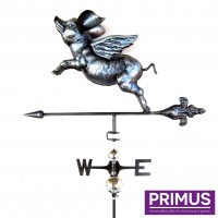 3D Flying Pig Weathervane with Garden Stake