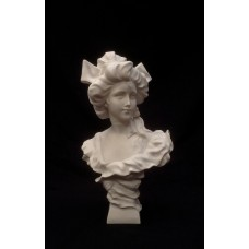 Pandora, a bust, French sculpture, 1900.