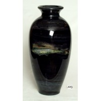 Marble vase made from Ancient black marble. SOLD