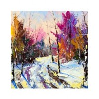 MULTICOLORED WINTER WOODS